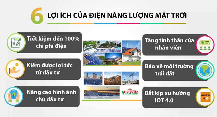 6 lợi ích từ điện mặt trời