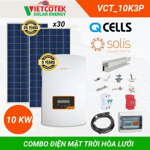 Combo điện mặt trời hòa lưới 10KWP 3 Pha