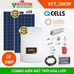 Combo điện mặt trời hòa lưới 20KWP 3 Pha