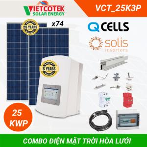 Combo điện mặt trời hòa lưới 25KWP 3 Pha