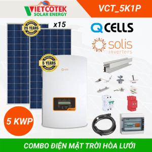 Combo điện mặt trời hòa lưới 5KWP 1 Pha