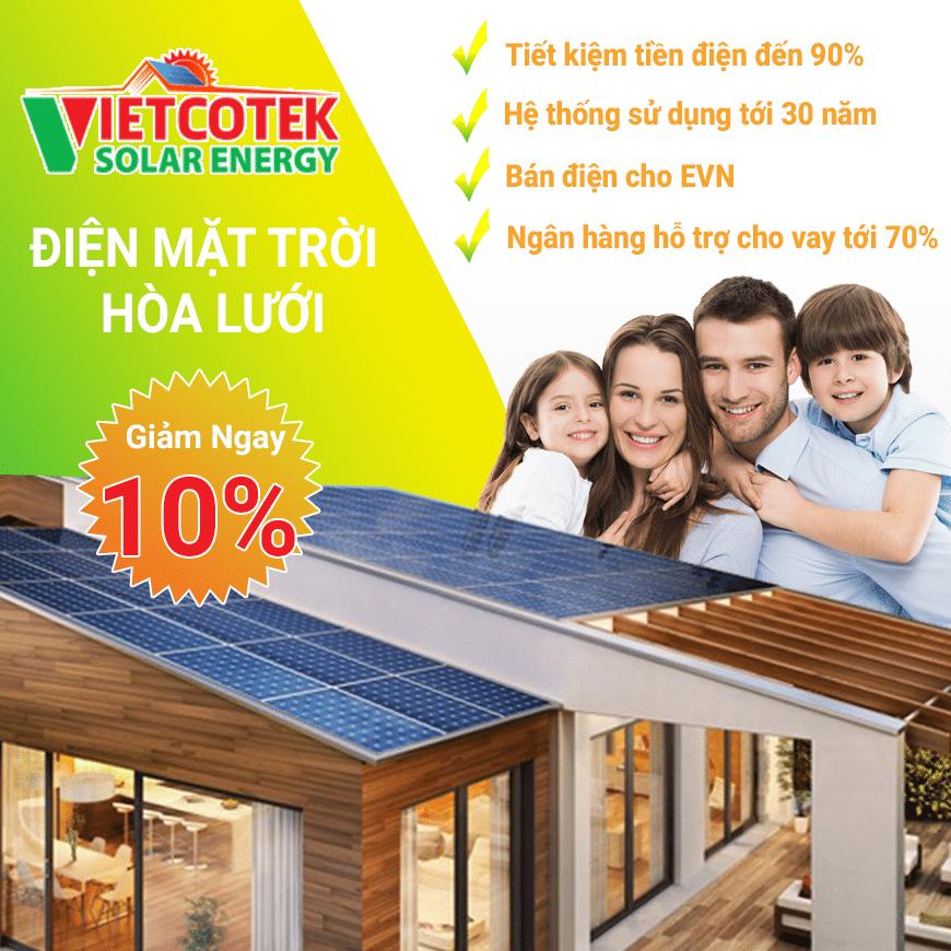 Lắp đặt điện mặt trời khuyến mãi 10%