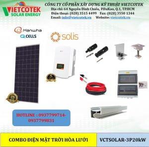 điện mặt trời hòa lưới 20kw