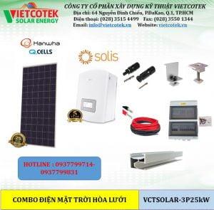 điện mặt trời hòa lưới 25kw