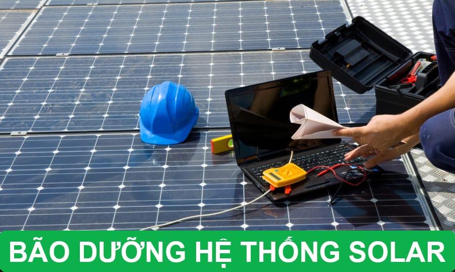 bảo dưỡng hệ thống solar